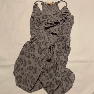 Rebecca Taylor grey cheetah/leopard print dress